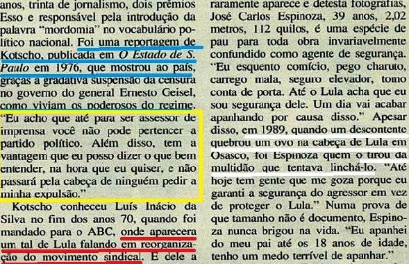 lula, em marcha 2 com velhos amigos, Veja 20mar1994
