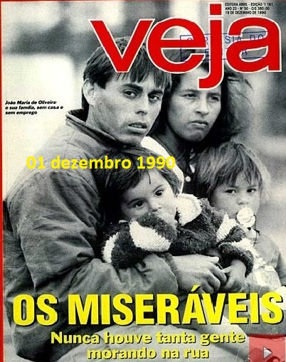 os miseráveis, veja 1990, capa