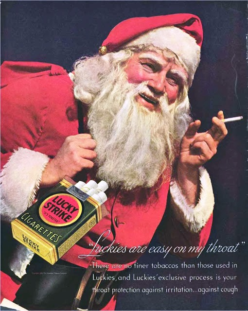 papai noel fumante lucky strike 1935
