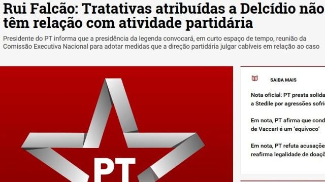 PT ABANDONA DELCÍDIO, MAS SE SOLIDARIZ COM OUTROS BANDIDOS...