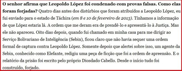 VENEZUELA, PRISÃO FORJADA DE LEOPOLDO LOPEZ 2