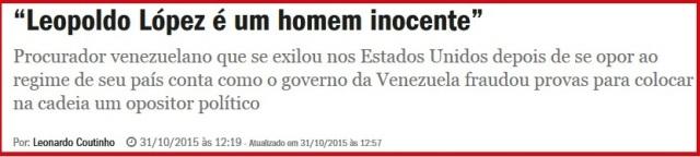 VENEZUELA, PRISÃO FORJADA DE LEOPOLDO LOPEZ 3,INOCENTE