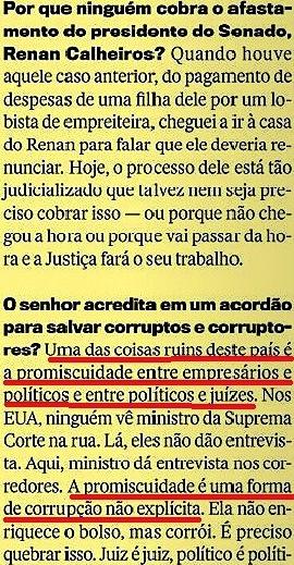 CRISTÓVÃO BUARQUE 10, páginas amarelas, Veja 20jan16