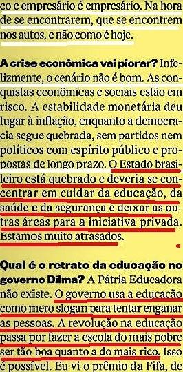 CRISTÓVÃO BUARQUE 11, páginas amarelas, Veja 20jan16