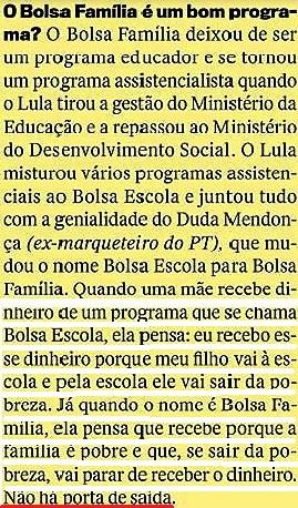 CRISTÓVÃO BUARQUE 15, páginas amarelas, Veja 20jan16