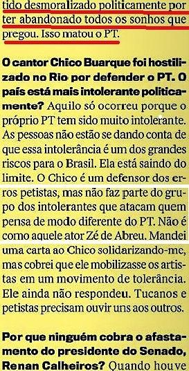 CRISTÓVÃO BUARQUE 9, páginas amarelas, Veja 20jan16
