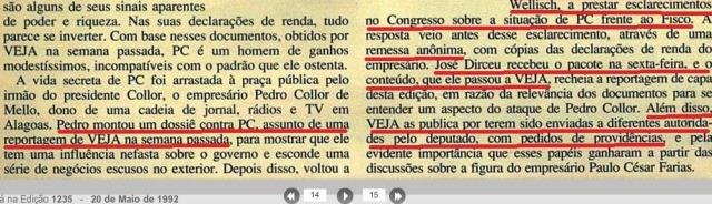 DIRCEU COLABORA COM VEJA, 20maio1992, parte2