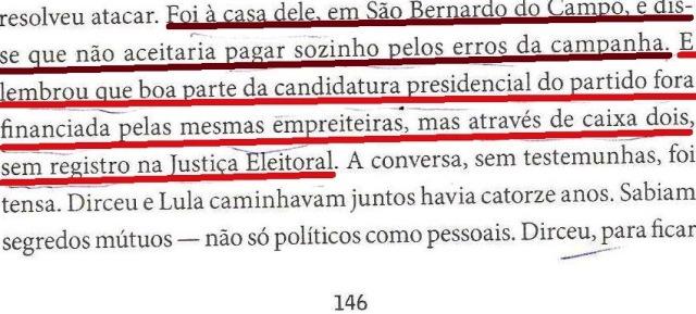 DIRCEU, LULA, OAS, ODEBRECHET...1994, livro DIRCEU, fl.146, parte 3