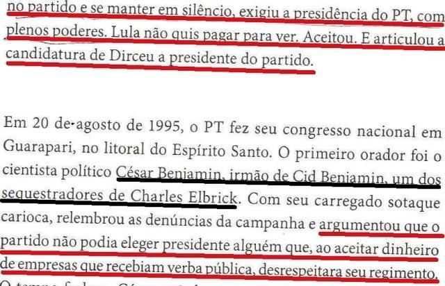 DIRCEU, LULA, OAS, ODEBRECHET...1994, livro DIRCEU, fl.147, DIRCEU PRESIDENTE DO PARTIDO