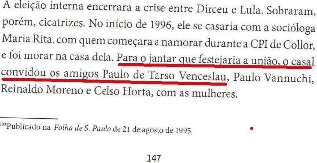 DIRCEU, LULA, OAS, ODEBRECHET...1994, livro DIRCEU, fl.147 PAULO VENCESLAU
