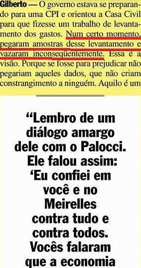 Gilberto Carvalho, Veja, amarelas 13, os gastos do PSDB, 2008