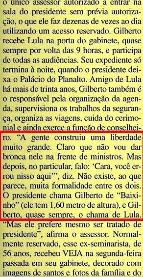 Gilberto Carvalho, Veja, amarelas 2, 2008