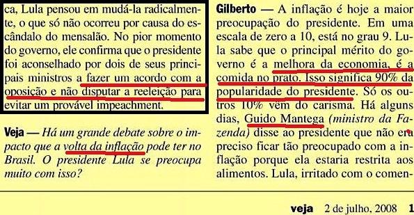 Gilberto Carvalho, Veja, amarelas 4, CARISMA, MANTEGA, 2008