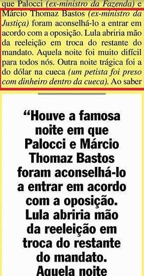 Gilberto Carvalho, Veja, amarelas 7, acordo com a oposição,dolar na cueca, 2008