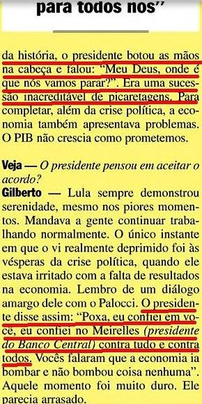 Gilberto Carvalho, Veja, amarelas 8, bombara, 2008