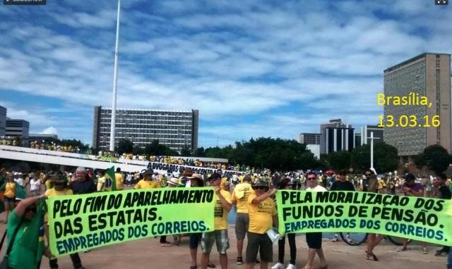 PROTESTOS, DF, CORREIOS