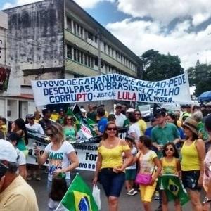 protestos, GARANHUS PEDE DESCULPA POR LULA