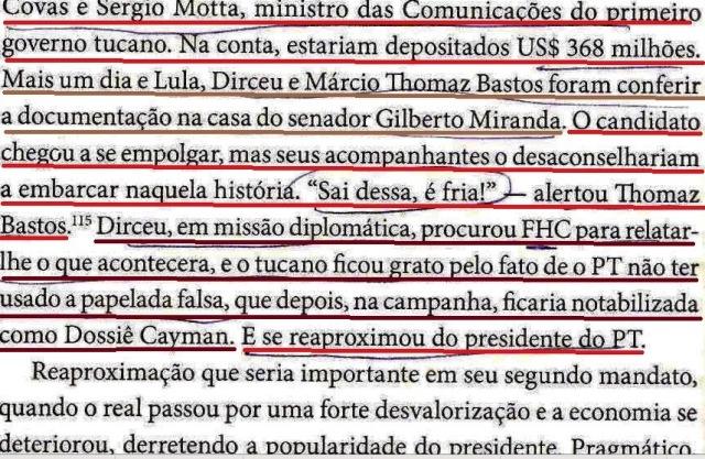DIRCEU, A BIOGRAFIA, fl. 154, DOSIÊ CAIMAN, SAI DESSA, É FRIA