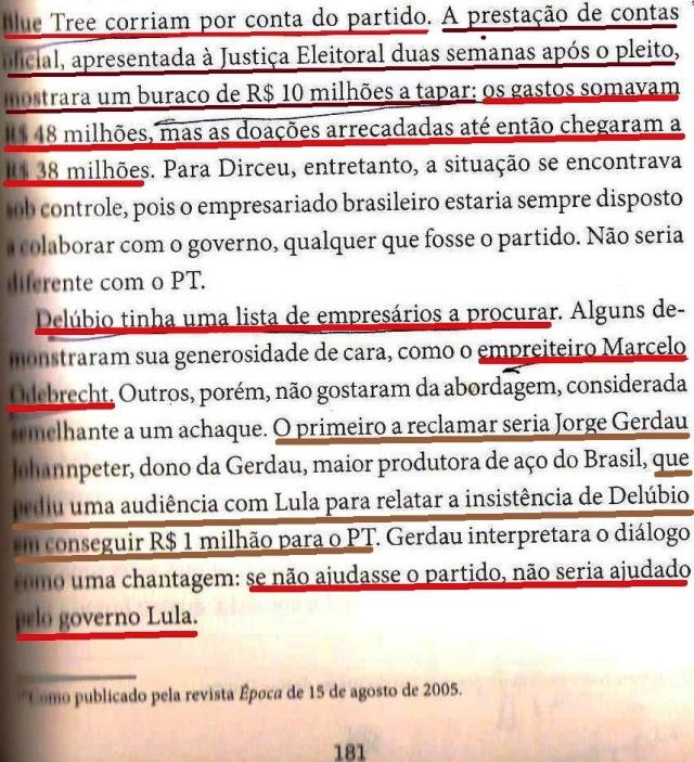 DIRCEU, A BIOGRAFIA, fl. 181, delúbio, dirceu,, lula, GERDAU