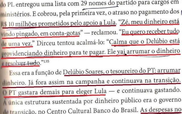 DIRCEU, A BIOGRAFIA, fl. 181, WALDEMAR COSTA NETO COBRA, DELÚBIO VAI ARRUMAR