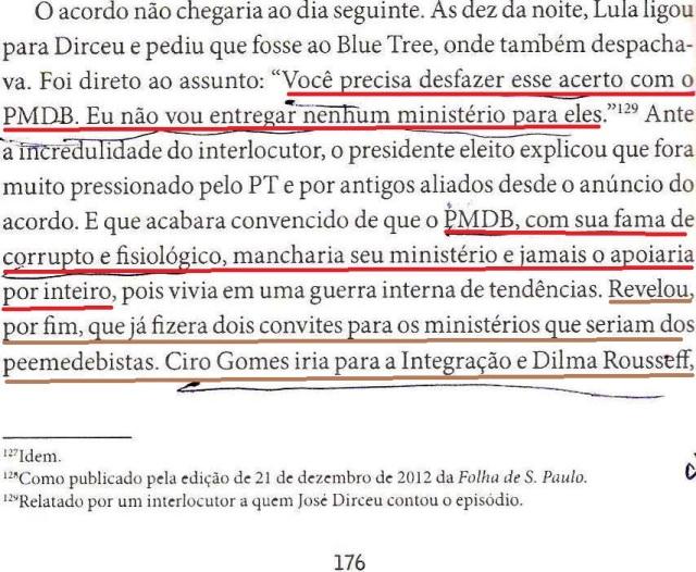 DIRCEU, Fl. 174, LULA MANDA DIRCEU DESFAZER O ACORDO 001