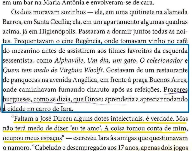 DIRCEU, A BIOGRAFIA, fls. 28, a vida com Iara