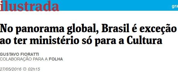 MINISTÉRIO DA CULTURA, folha