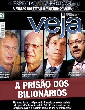 veja, capa bilionários, nov 2014