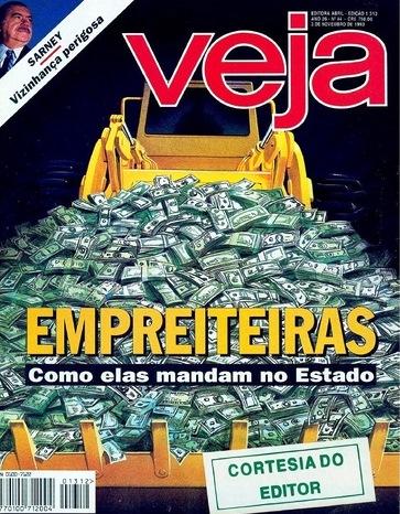 veja, capa empreiteiras, nov 1993