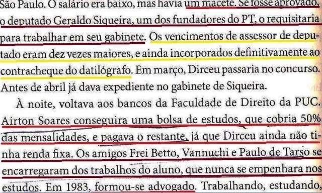 Dirceu, a biografia, fl. 120, AIRTON PAGA ESCOLA DE DIRCEU