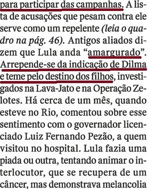 LULA EM CARUAARU, O OCASO 12, AMARGURADO, Veja, 20jul16