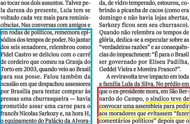 LULA EM CARUAARU, O OCASO 13, OS TEMPOS DO PODER, SÍNDICO..., Veja, 20jul16