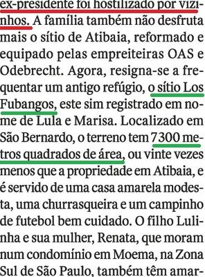 LULA EM CARUAARU, O OCASO 14, LOS FUBANGOS..., Veja, 20jul16