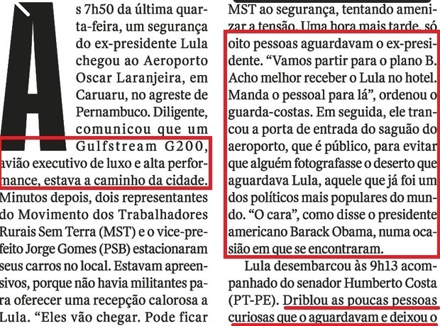 LULA EM CARUAARU, O OCASO 2, Veja, 20jul16