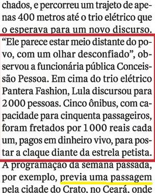LULA EM CARUAARU, O OCASO 7, LULA DISTANTE, DESCONFIADO, Veja, 20jul16
